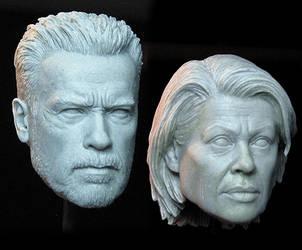 Terminator: Dark Fate NECA Headsculpts by TrevorGrove