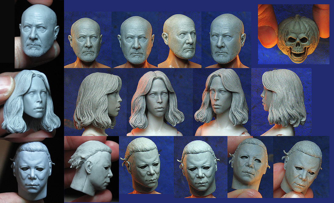 NECA Halloween 2 Retro Figure Headsculpts