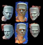 NECA Frankenstein Headsculpts