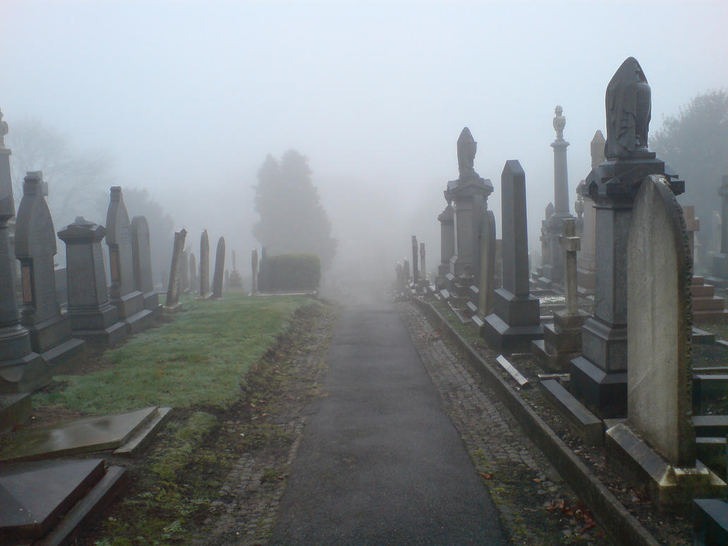 Foggy At The Cemetery 8a By Rudeturk