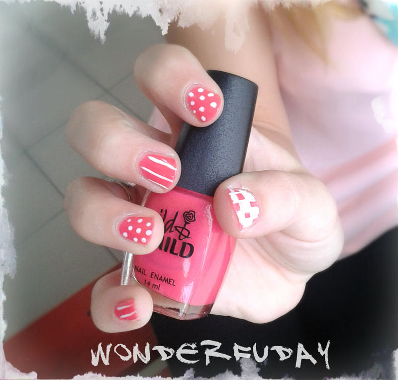 2013-11-06 cute nail art for friend by Wonderfuday on DeviantArt
