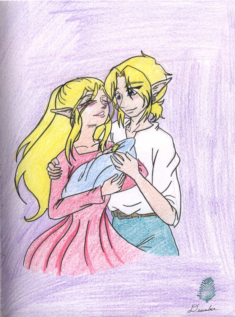 Link  Zelda  and the Baby by AngelicDragonElf on deviantARTZelda And Link Wedding