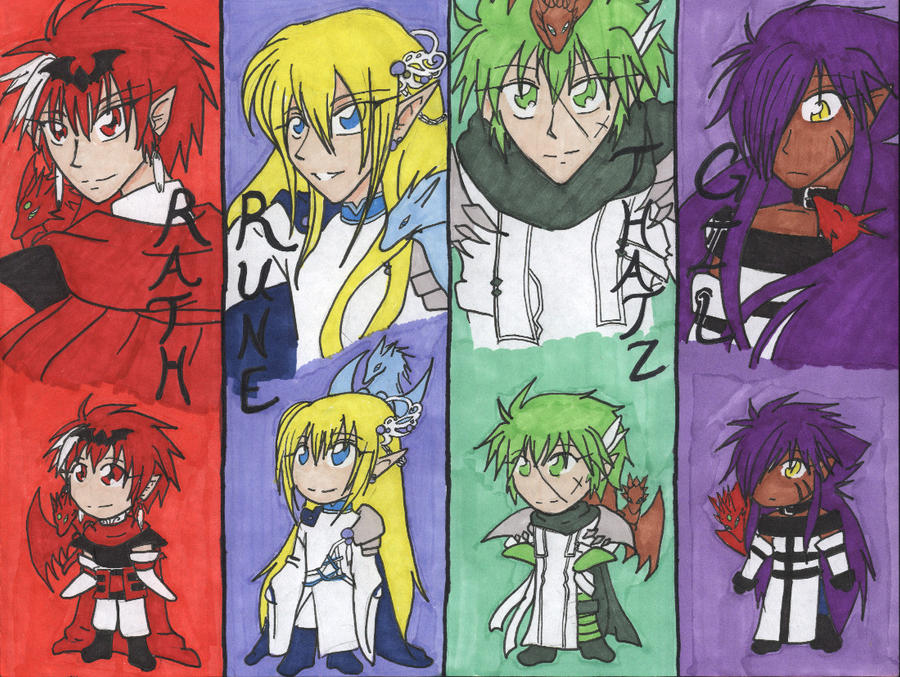 Dragon Knights Bookmarks by AngelicDragonElf