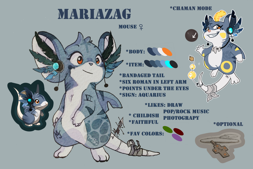 Reference - Mariazag the mouse by mariazag