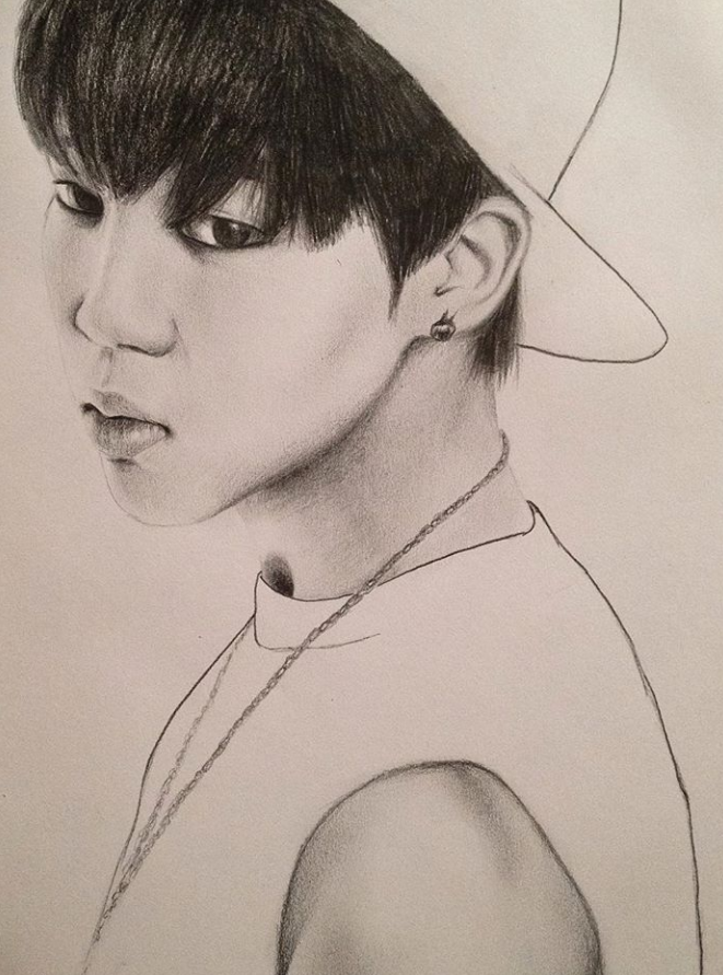 Park Jimin (BTS) Sketch By PortraitKate On DeviantArt