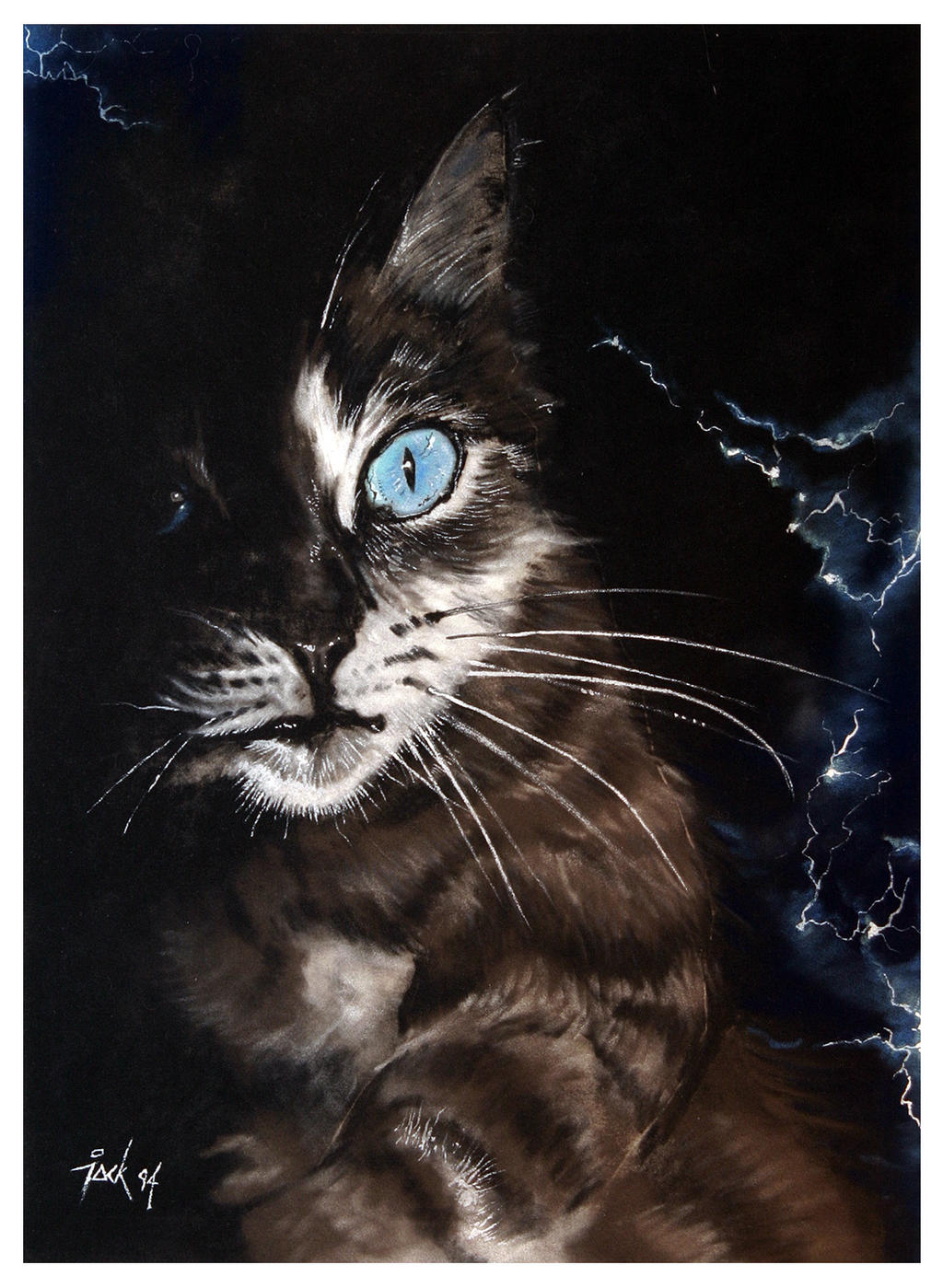 Cat, Pastel by popChar