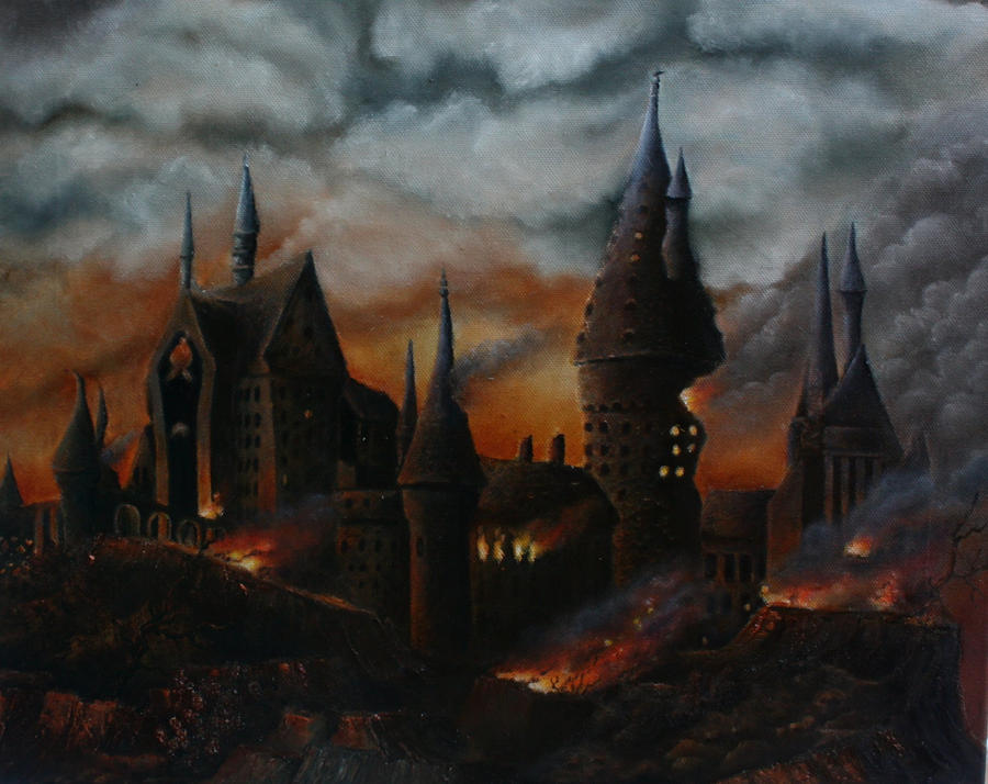 Harry Potter Book Burning : Burning hogwarts by vivalavida on deviantart
