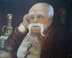 Horace Slughorn in Oil by VivalaVida