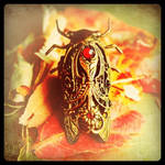 Jeweled Cicada Ring by 19Moons