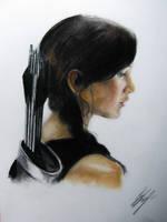 Katniss The Hunter Games catching fire by kssu24