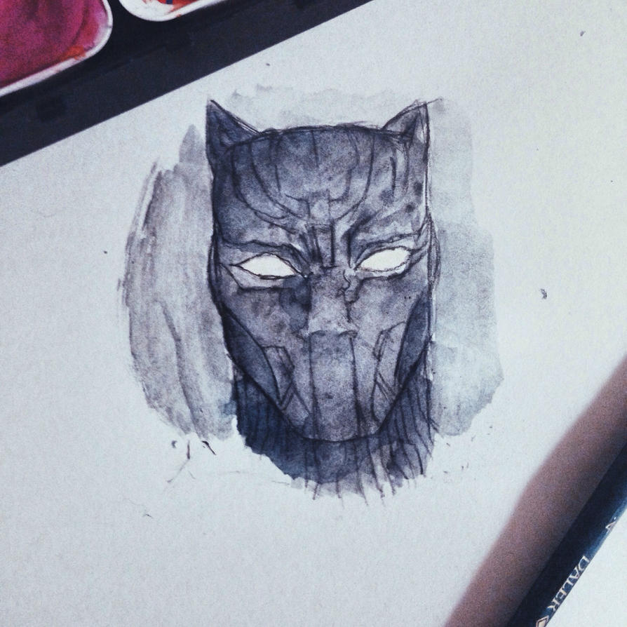 Black panther  by bluedrangon123