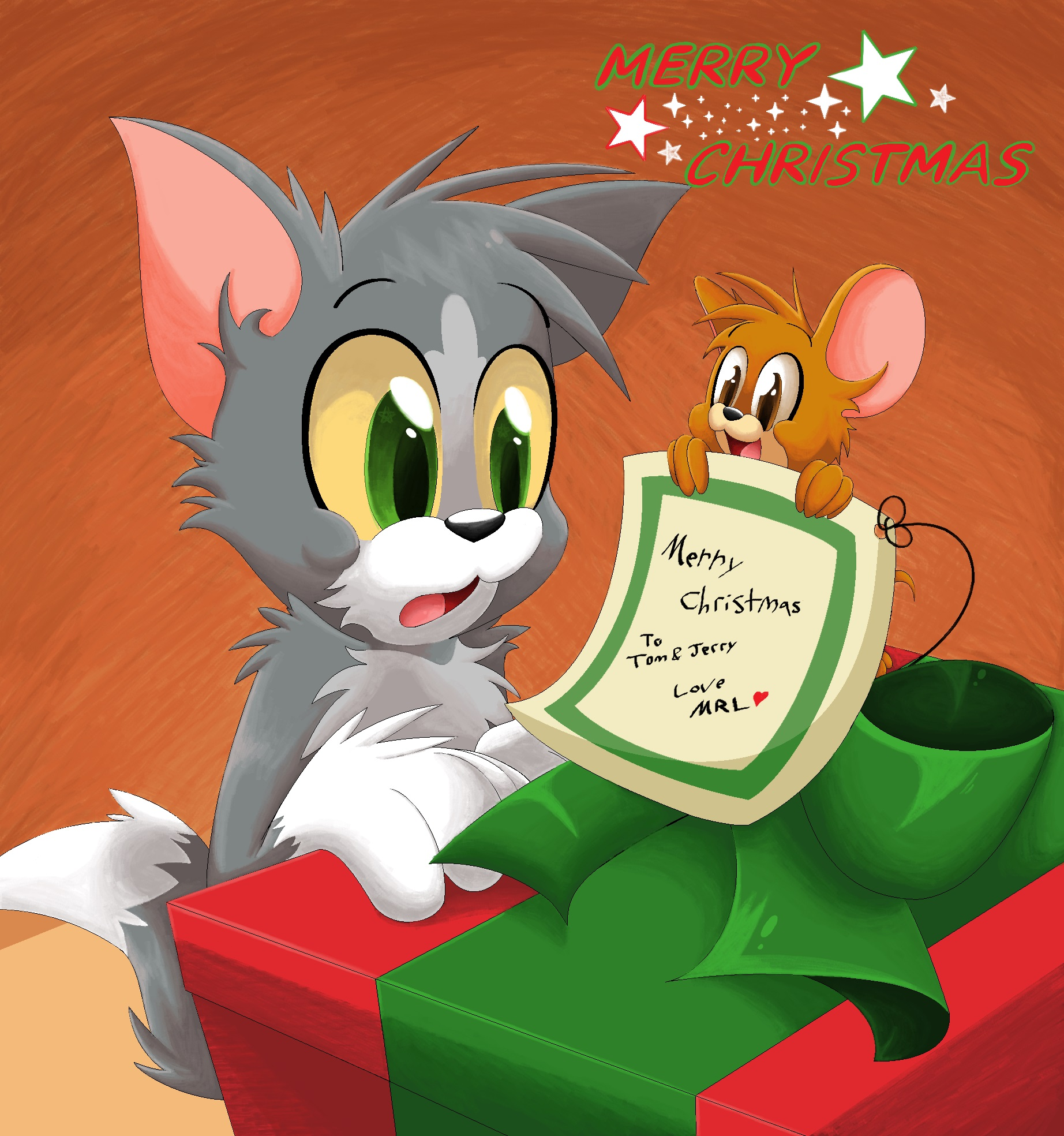 Merry Christmas Tom And Jerry By Mordecairigbylover On