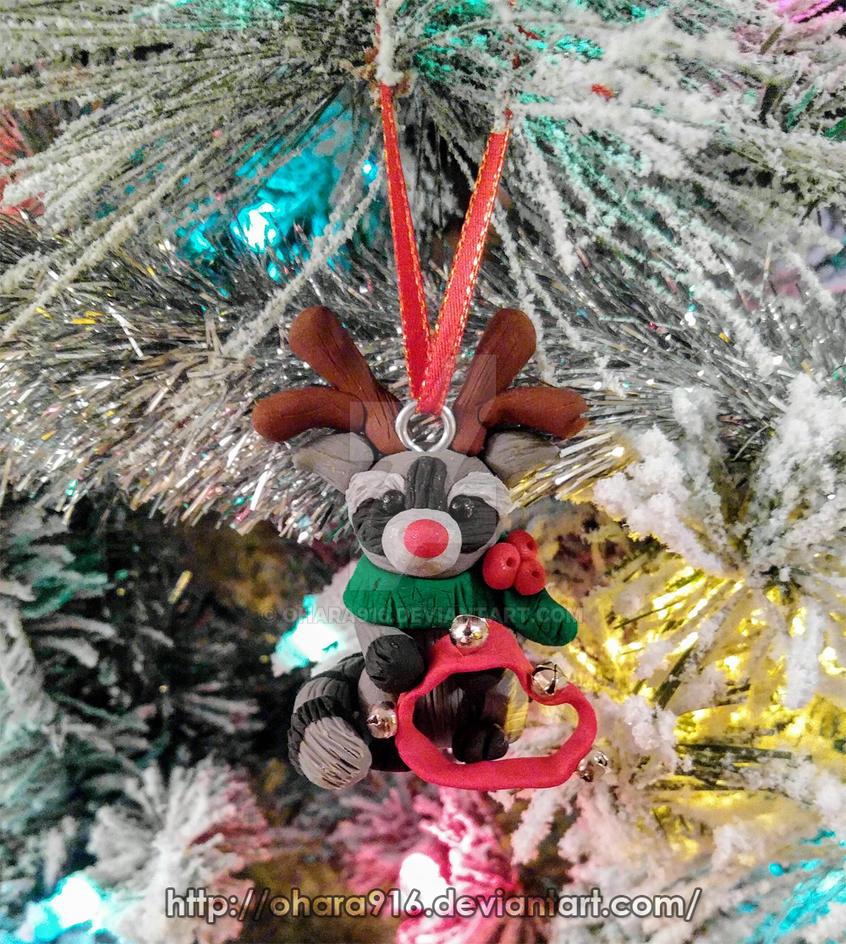 Rudolph Raccoon by ohara916