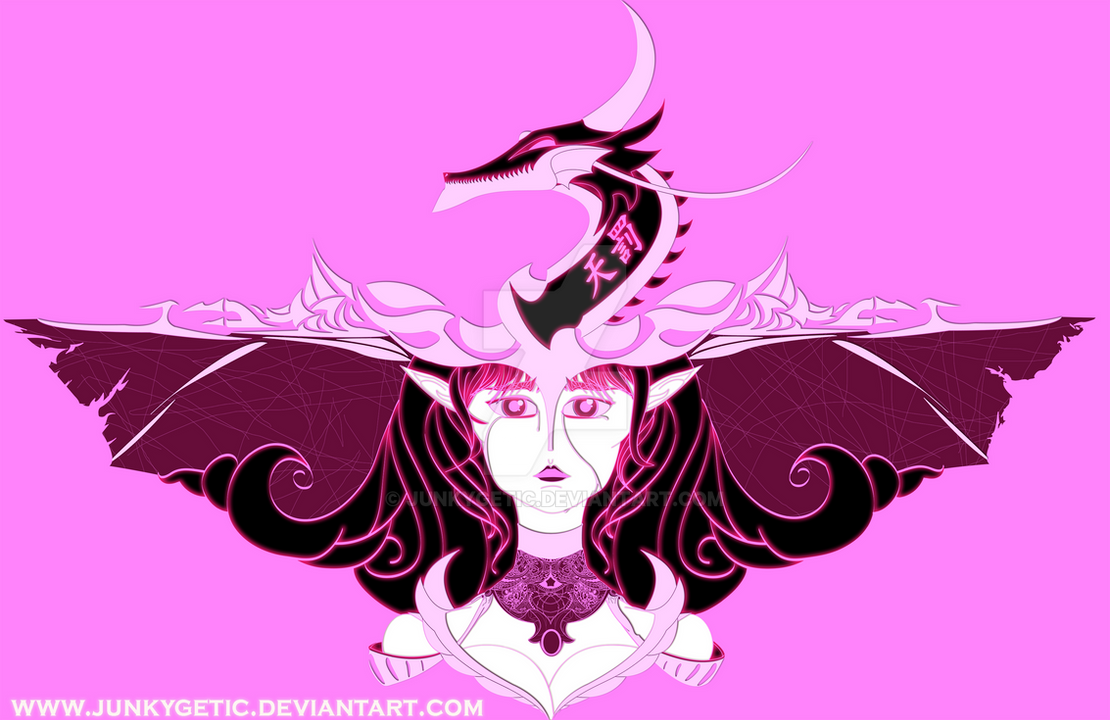 Elf princess and The Blade dragon - shirt design by junkygetic