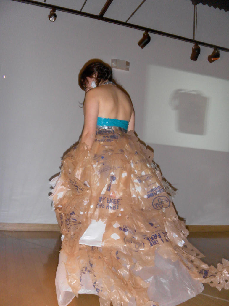 Plastic bag dresses remarkable, very