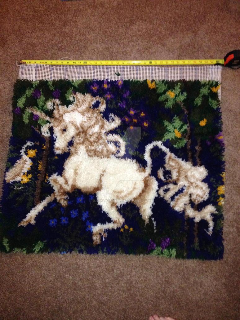 Epic Unicorn Latchhook by darkligress