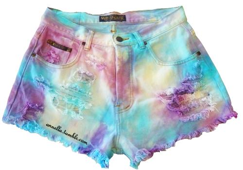 DIY tie dye shorts by xmoOshay on DeviantArt