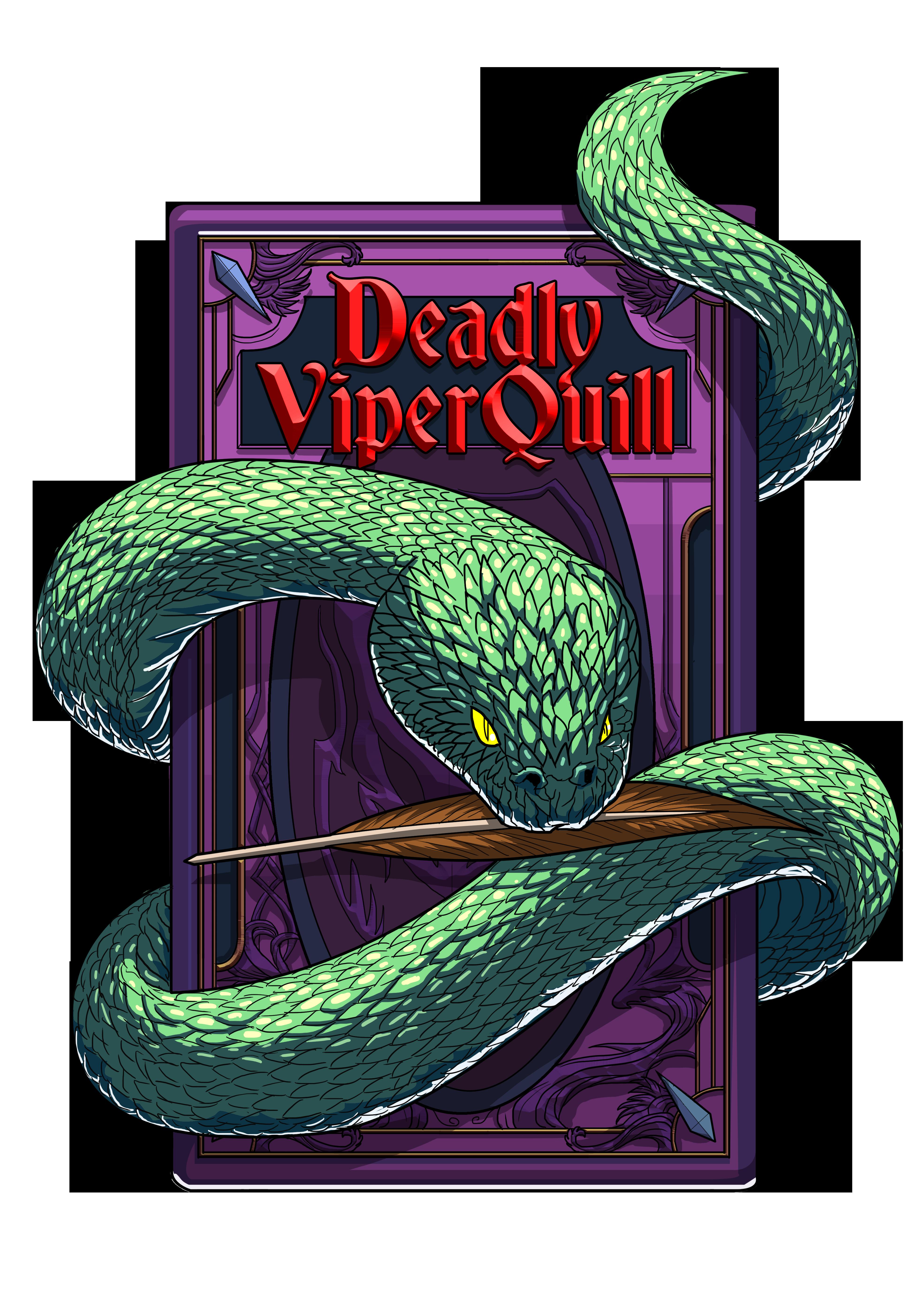DeadlyViperQuill Logo