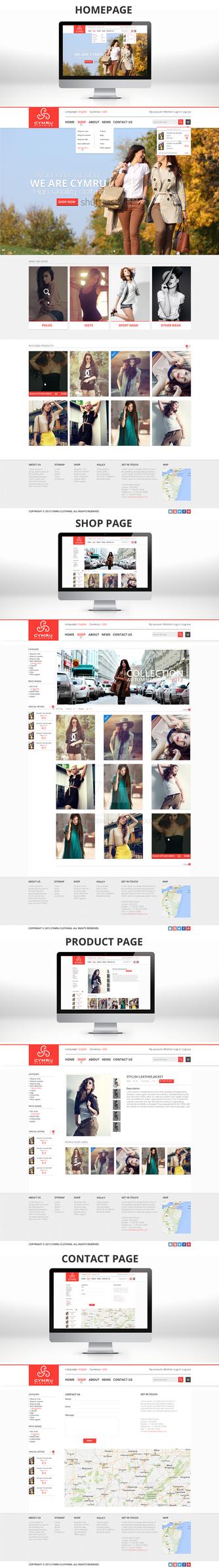 Cymru Clothing Website Design[For Sale] by NickchouBG