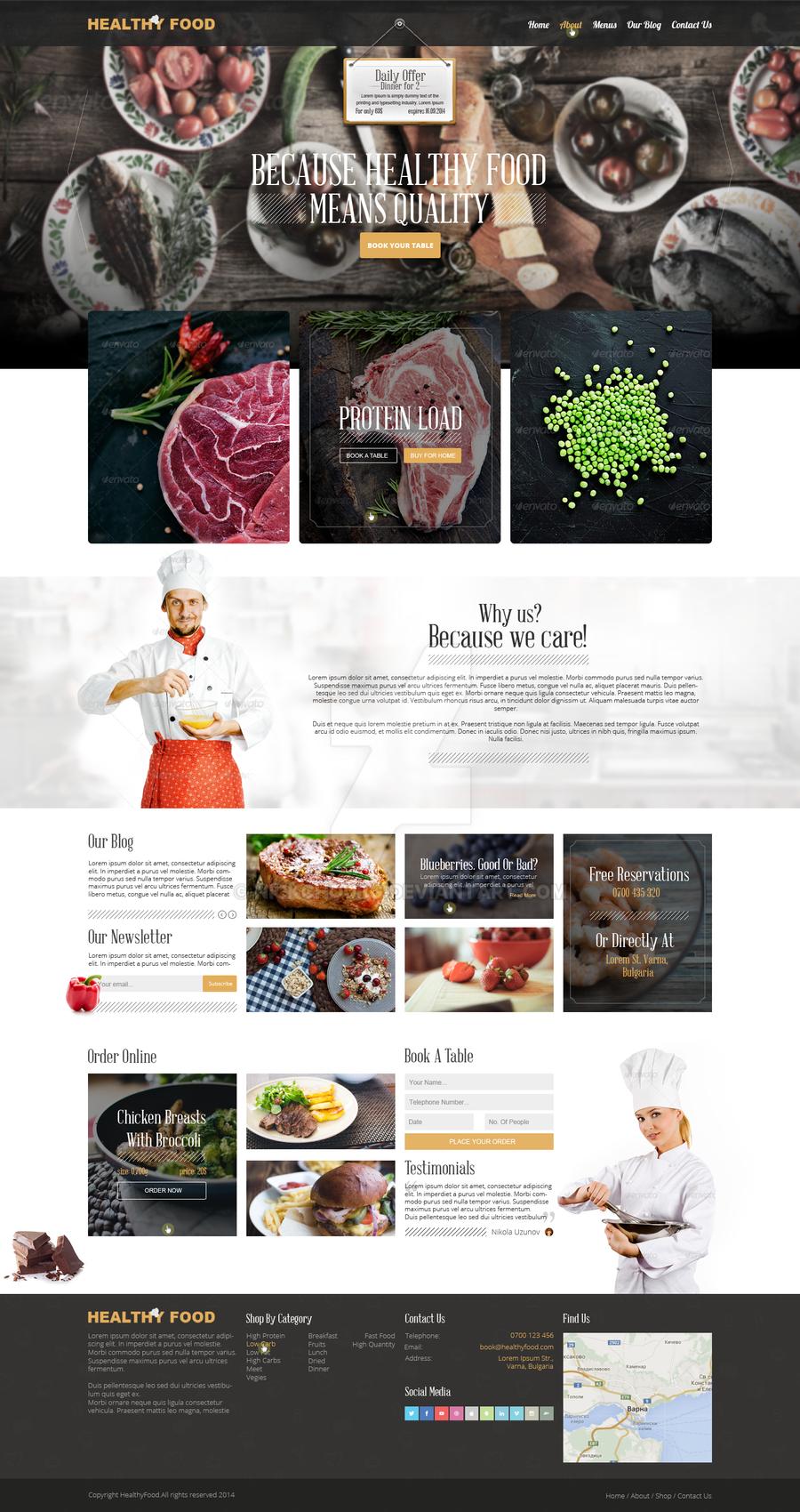 Healthyfood- Web Deisgn by NickchouBG