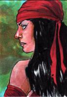 Elektra Sketch Card by Manji675