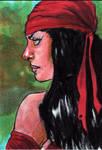 Elektra Sketch Card