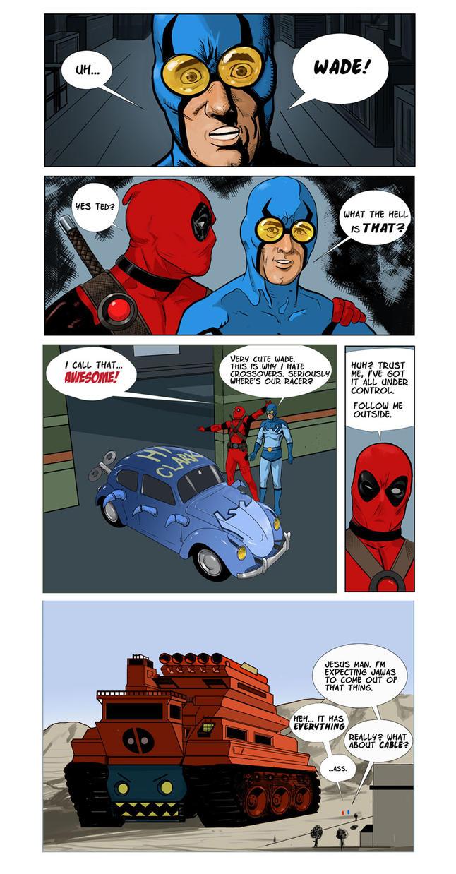 Deadpool-bluebeetle-fun by Manji675