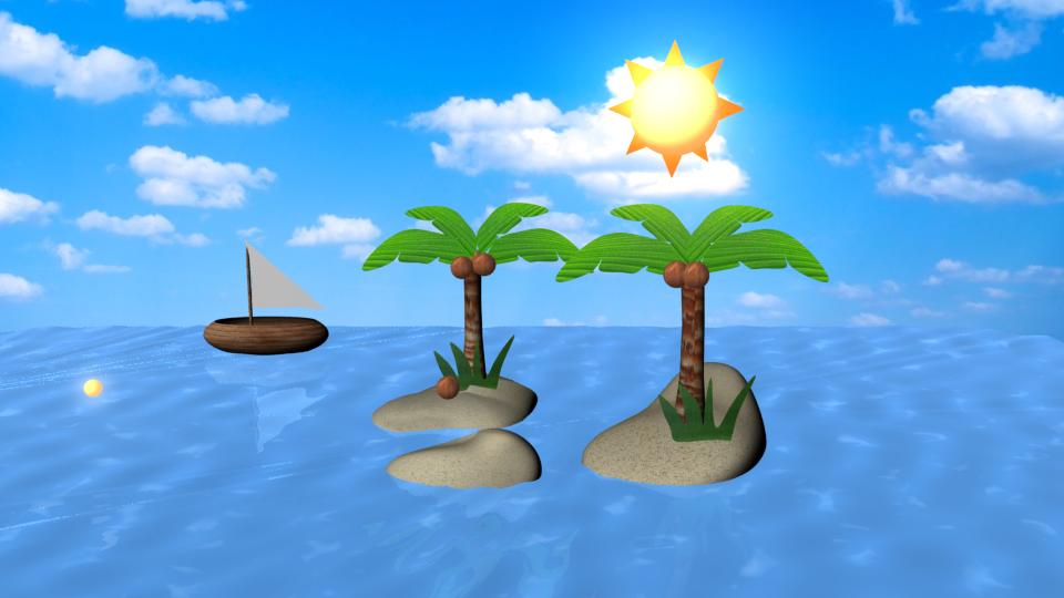 3-D modeling: ISLAND by HappyMintTea