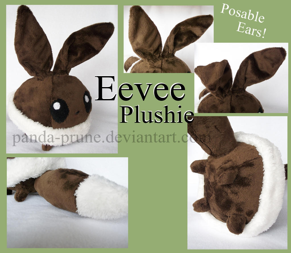 *SOLD* Eevee Chibi Plushie by Panda-Prune