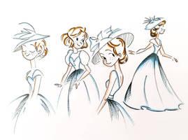Vintage dress doodle