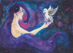 The Cosmos Maiden with a Starry Bird
