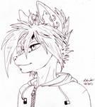 Cool Wolf Headshot