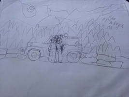 Mickey and Minnie with a Jeep In The Rockies W.I.P