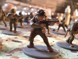 WWII Army Ranger With Thompson Sub-Machine Gun