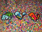 kanto starters perler beads