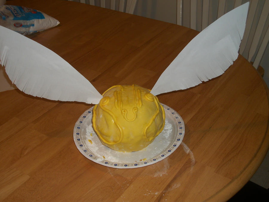 Golden Snitch Cake Wings