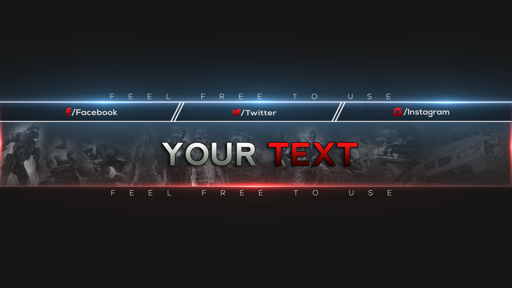 Gaming youtube banner template by 113micou on deviantart for Cool youtube channel art templates