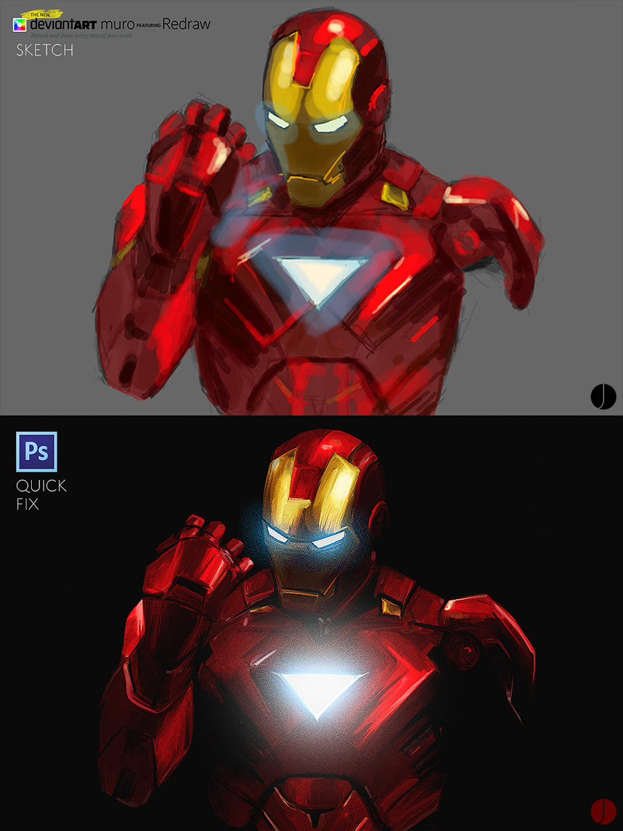 Iron Man Mk VI Muro Sketch and PS Finish by PhotoshopIsMyKung-Fu