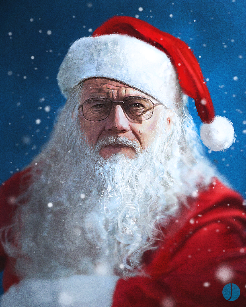 Walter White Christmas by PhotoshopIsMyKung-Fu