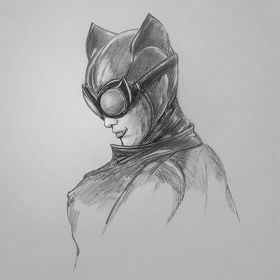 Selina Sketch by PhotoshopIsMyKung-Fu