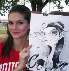 Girl Caricature by macgarciacom
