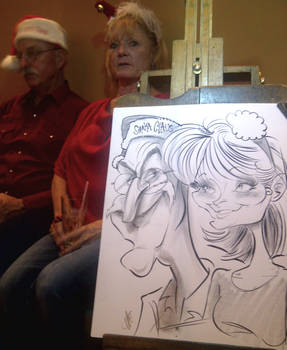 Christmas Event Caricature