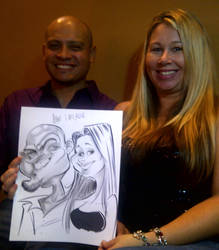 Couple Caricature by macgarciacom