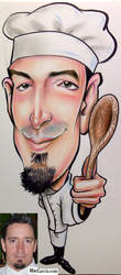 Chef Caricature by macgarciacom