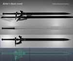 Sword art online - Kirito's black sword model