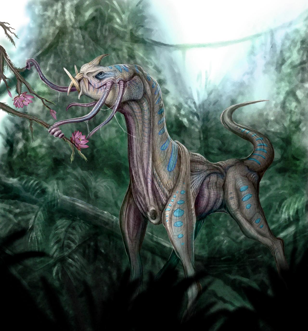 Jungle Hummingbeast by emkaKl