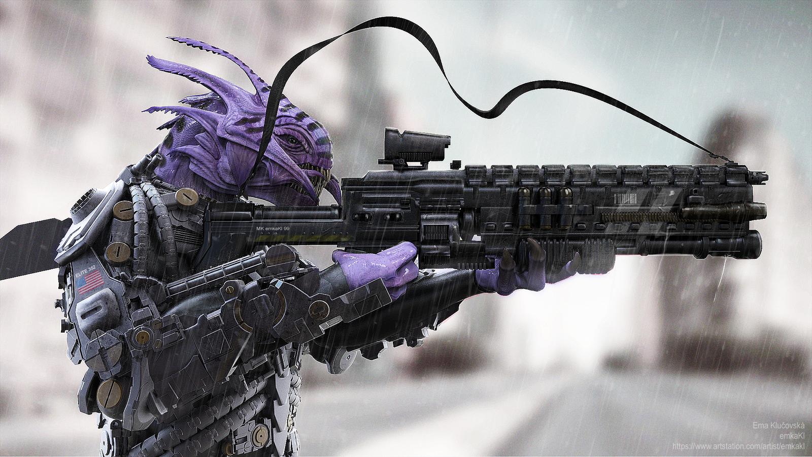 alien soldier by emkak...