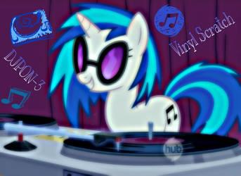 DJPON-3/ Vinyl Scratch by ponyboy2012