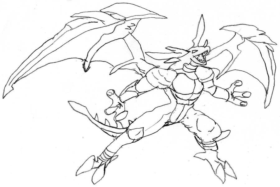 Bakugan omega leonidas sketch by bradry on deviantart for Free bakugan coloring pages