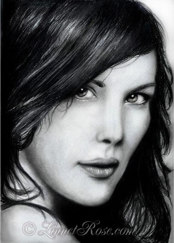 Liv Tyler 1st portrait. by LinnetRose